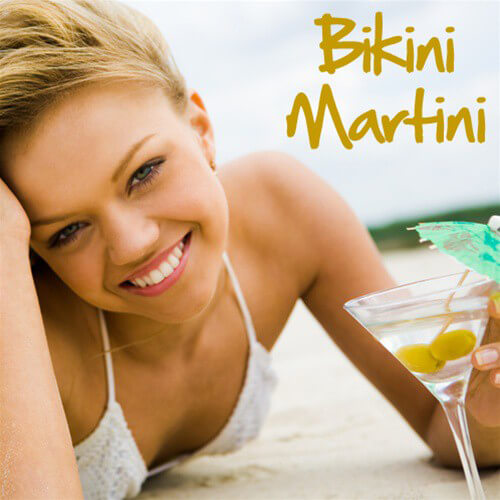Pink Spot Bikini Martini