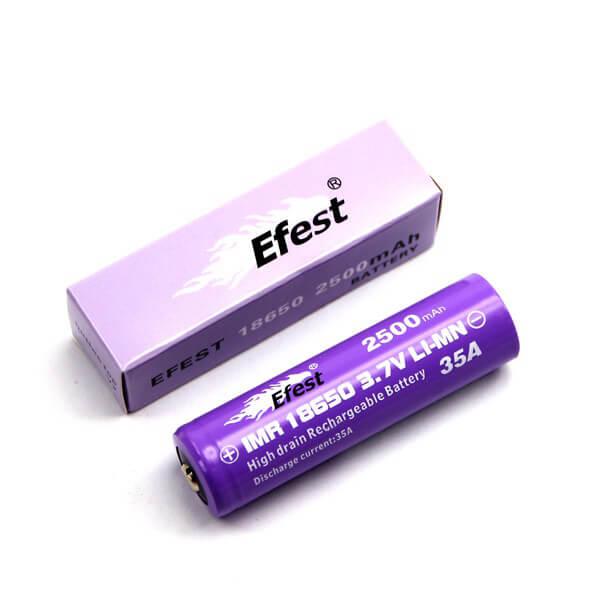 Efest Purple IMR 18650 - 2500mAh