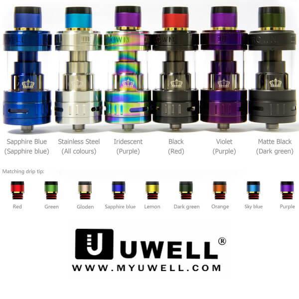 Uwell Crown 3 Verdampfer Farben