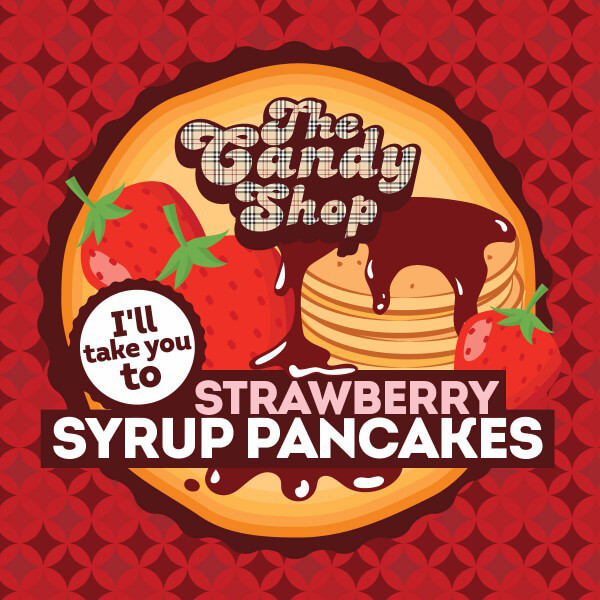 Aroma Big Mouth Strawberry Syrup Pancakes